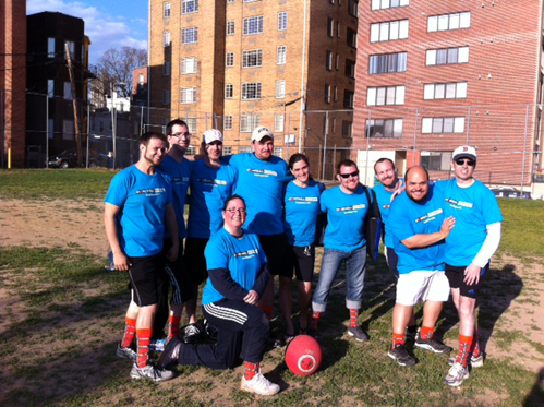 kickball team photo - knee socks