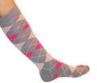 argyle socks gray pink