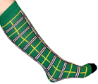 Green Plaid Knee Socks