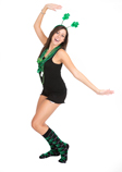 St. Patrick's Day themed socks