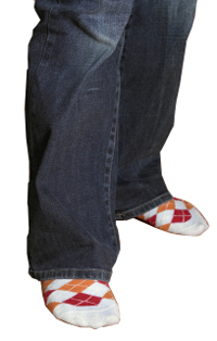 knee socks with jeans