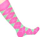 neon green knee socks