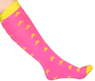 Neon Pink/Neon Yellow Star Socks