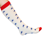 Red/White Blue Star Socks