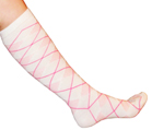 White/Light Pink Argyle