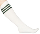 White Tube Dark Green Stripes
