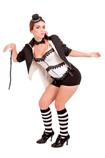 Mad Hatter costume black/white striped knee socks