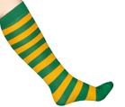 Green/Gold Striped Socks