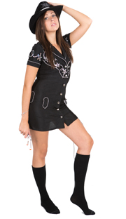 cowgirl black socks