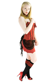 vampire costume with knee socks