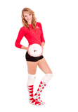 Volleyball costume red argyle knee socks