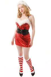 santa outfit with knee socks