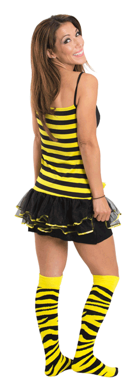 bee halloween costume socks
